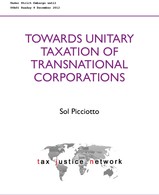 Towards Unitary Taxation of Transnational Corporations